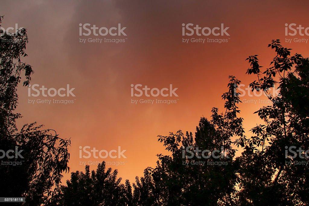 gloomy cloudy sky stock photo