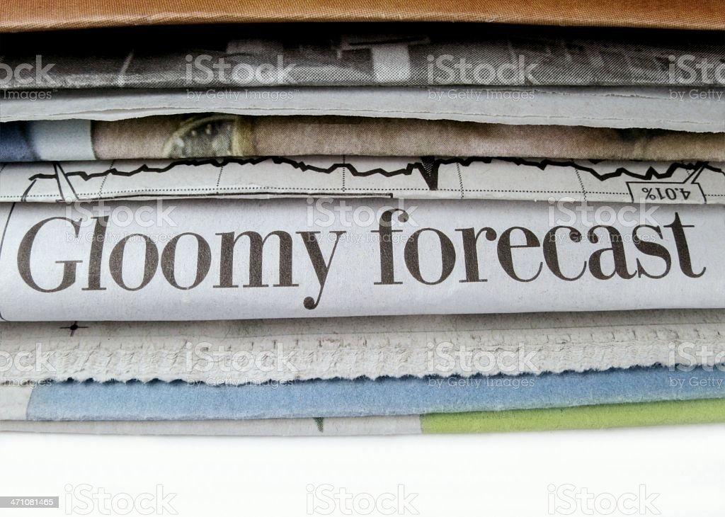 Gloomy Forecast royalty-free stock photo