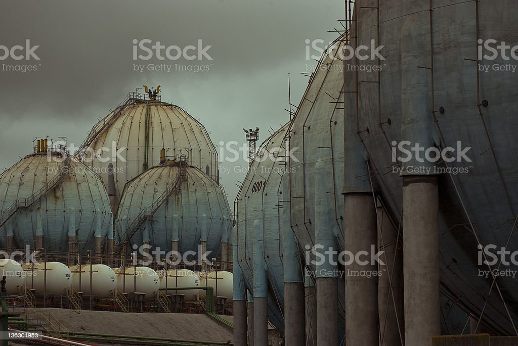 Gloomy Industrial Landscape royalty-free stock photo