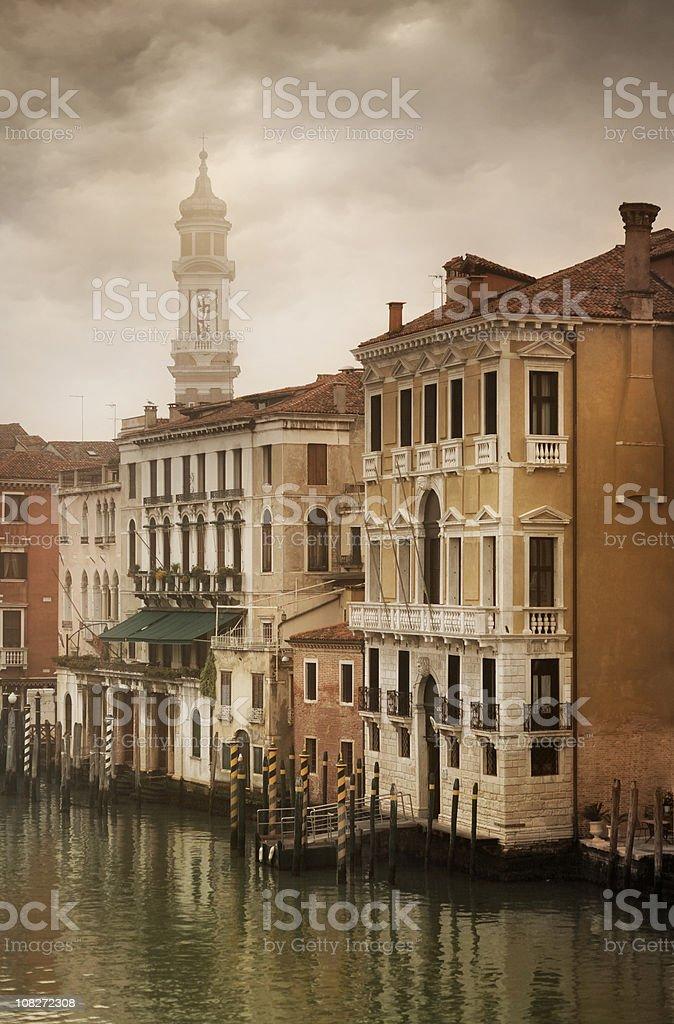 Gloomy morning in Venice royalty-free stock photo
