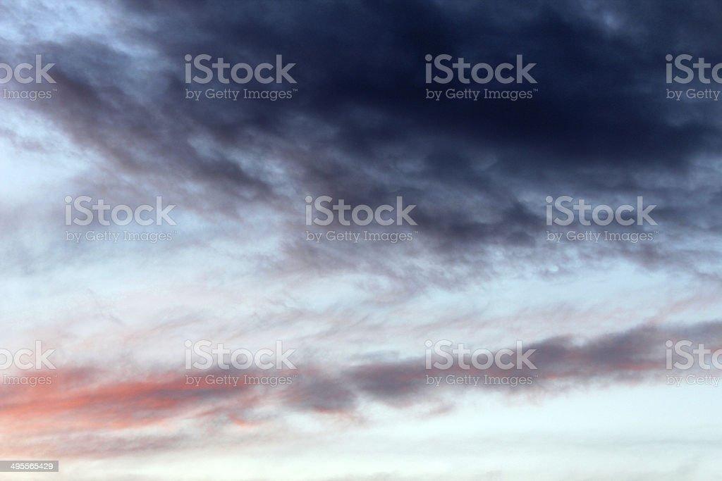 Gloomy sky royalty-free stock photo