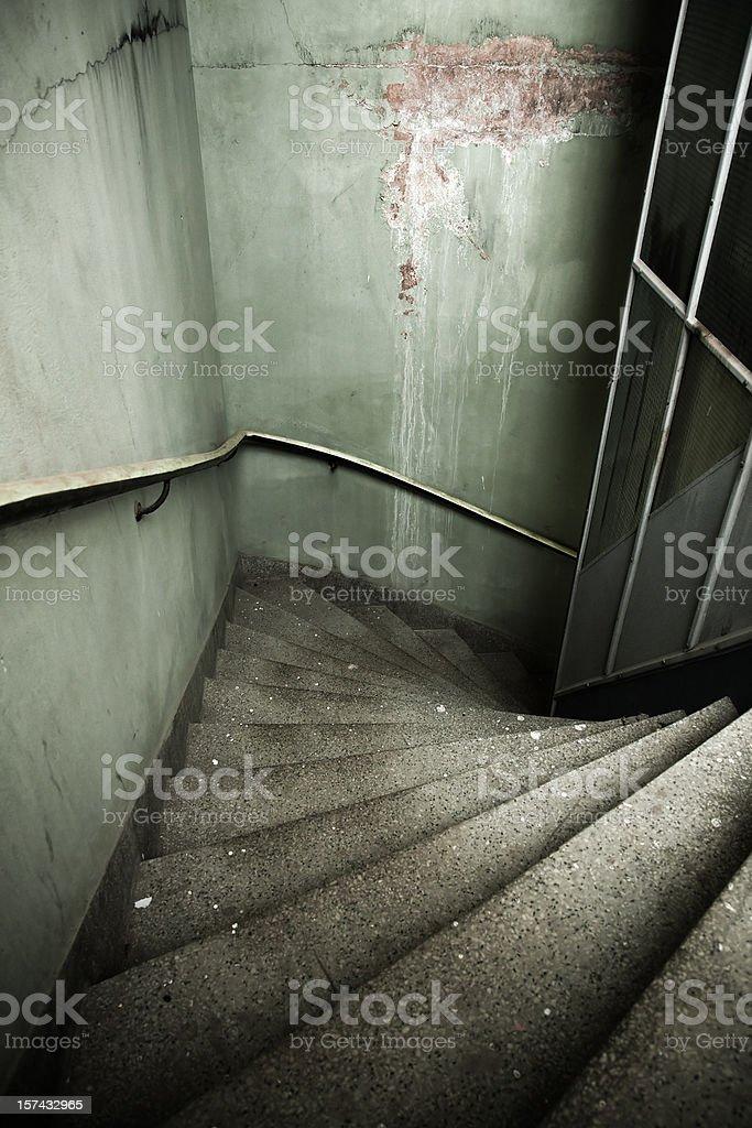 Gloomy stairway royalty-free stock photo