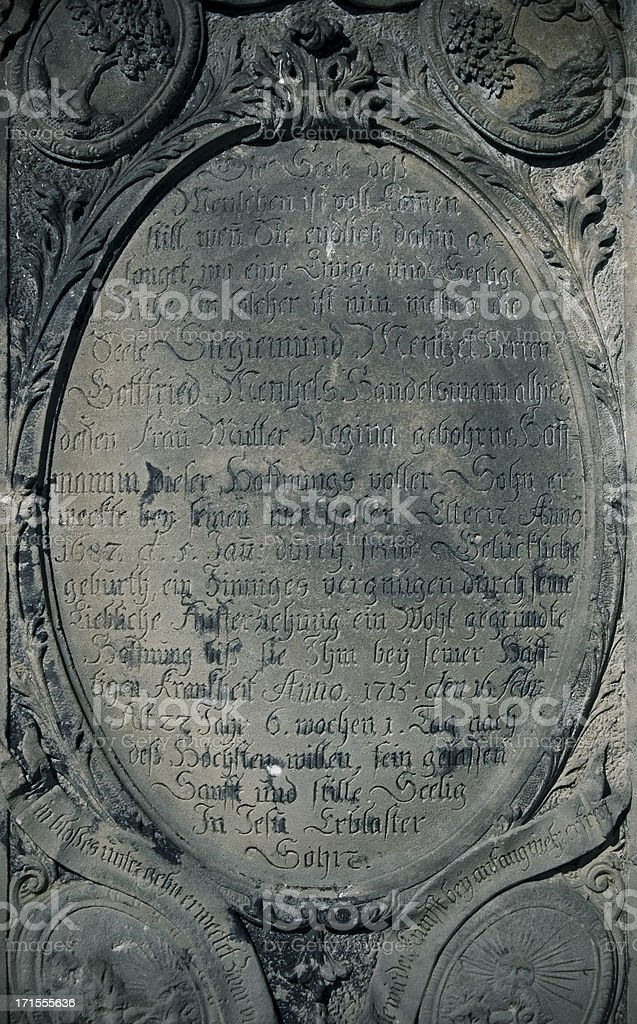 Gloomy Stone Inscription royalty-free stock photo