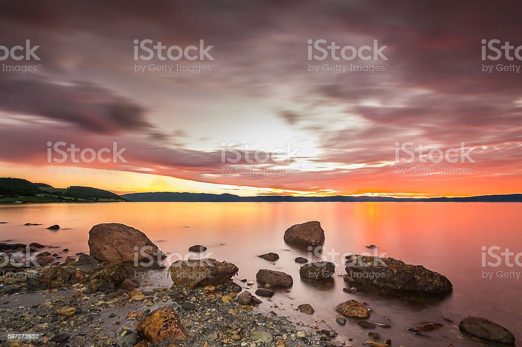 Gloomy Sunset stock photo