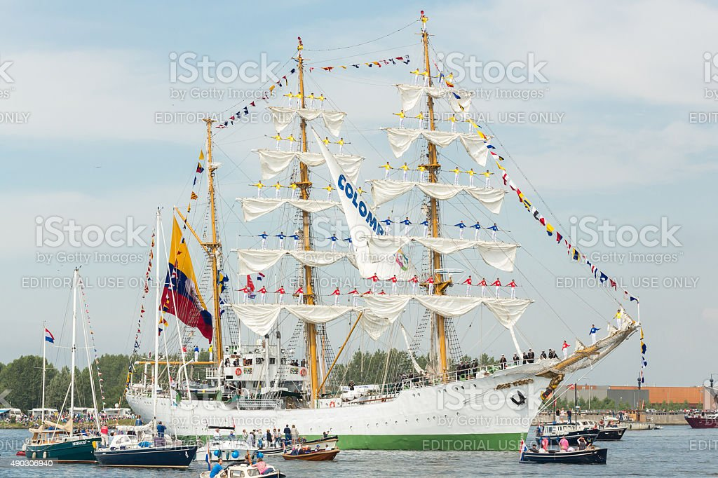 ARC Gloria - Sail Amsterdam 2015 stock photo