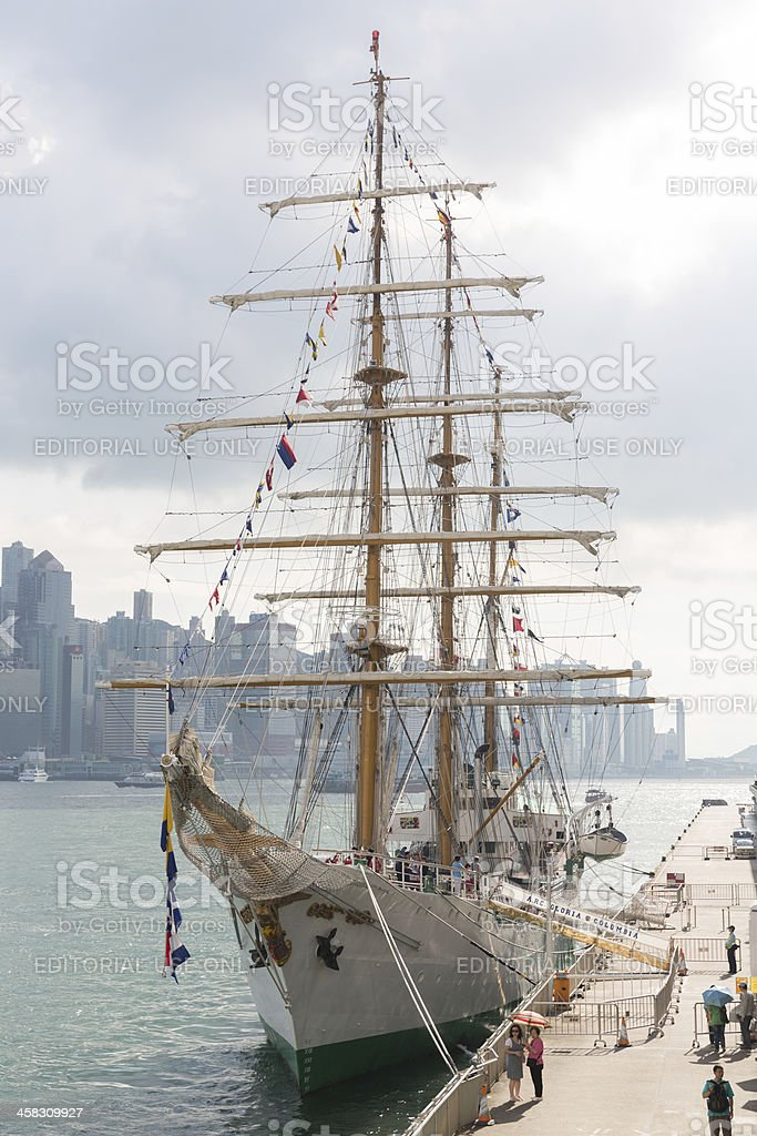 ARC Gloria Visits Hong Kong royalty-free stock photo