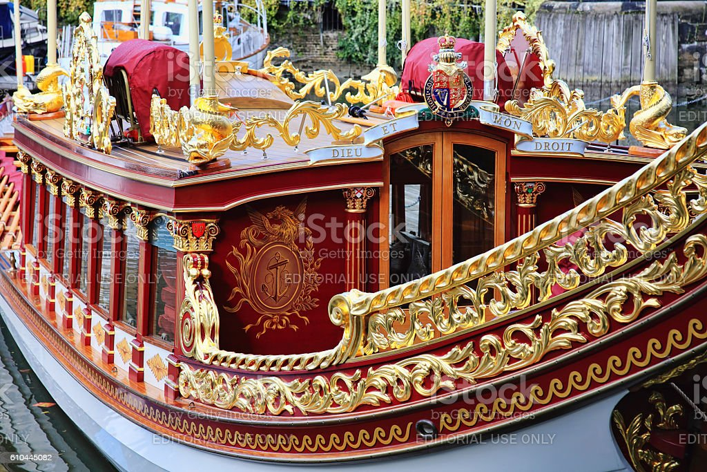 Gloriana royal barge stock photo
