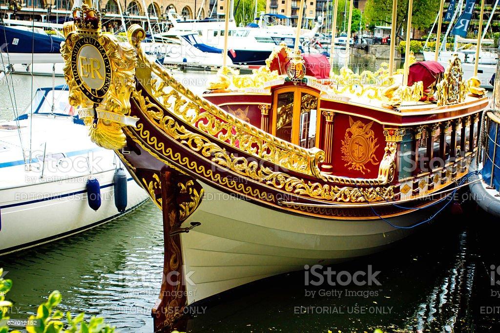 Gloriana Royal Barge stock photo