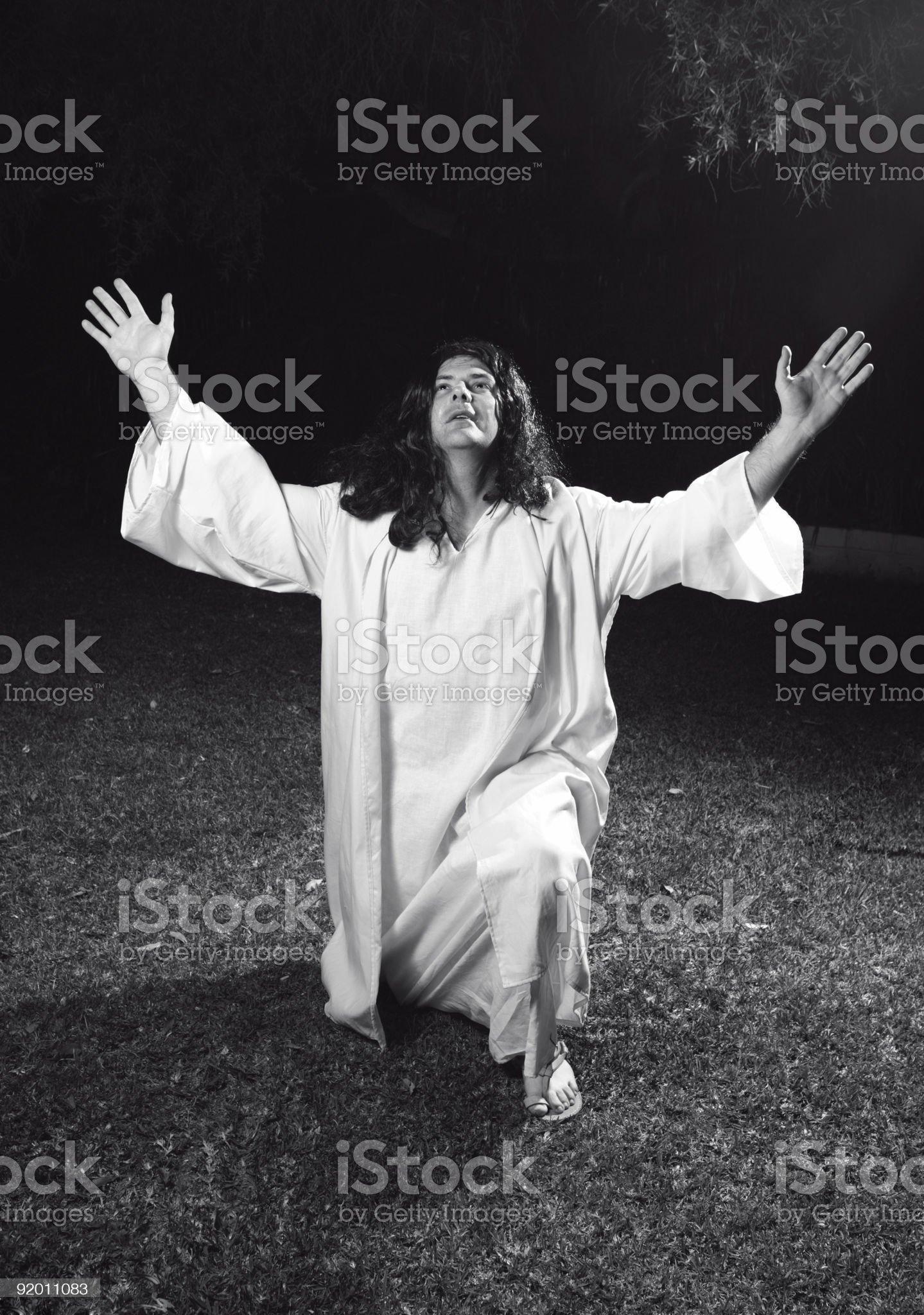 Glorifying God royalty-free stock photo