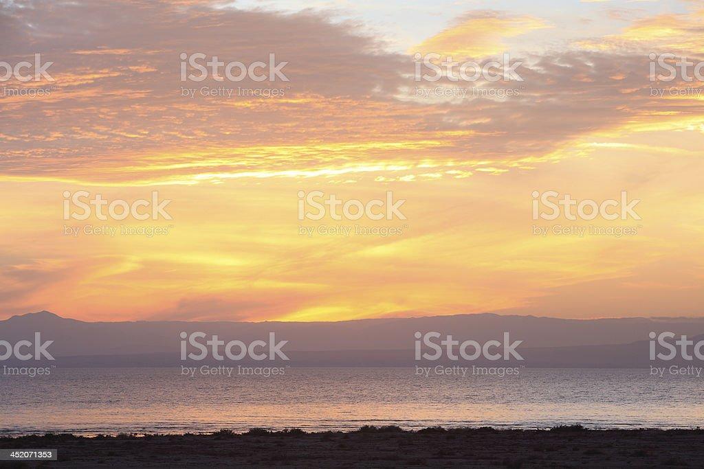 Glorious Color Over The Salton Sea stock photo
