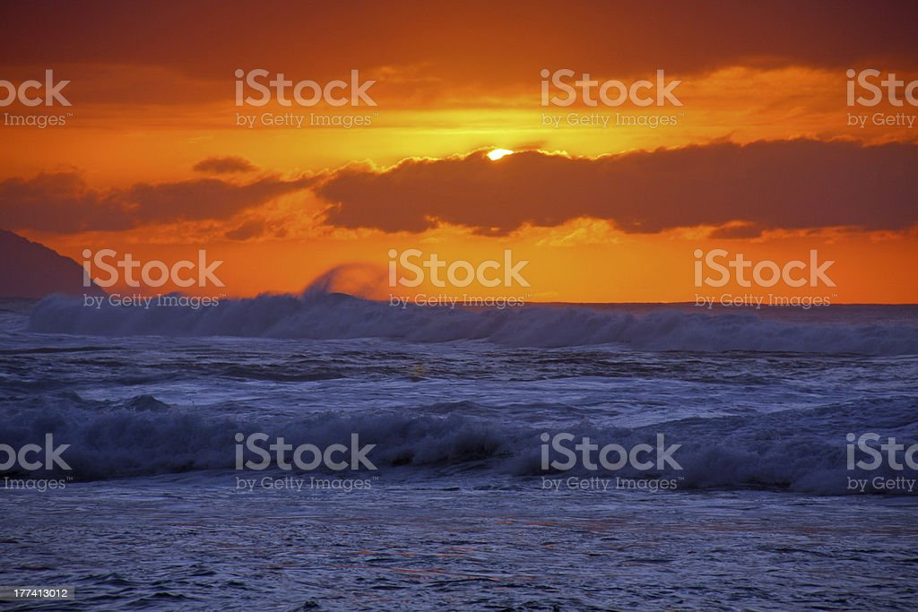 Glorious Evening in Oahu royalty-free stock photo