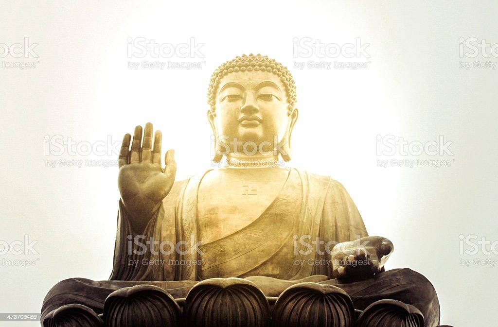 Glorious Giant Buddha stock photo