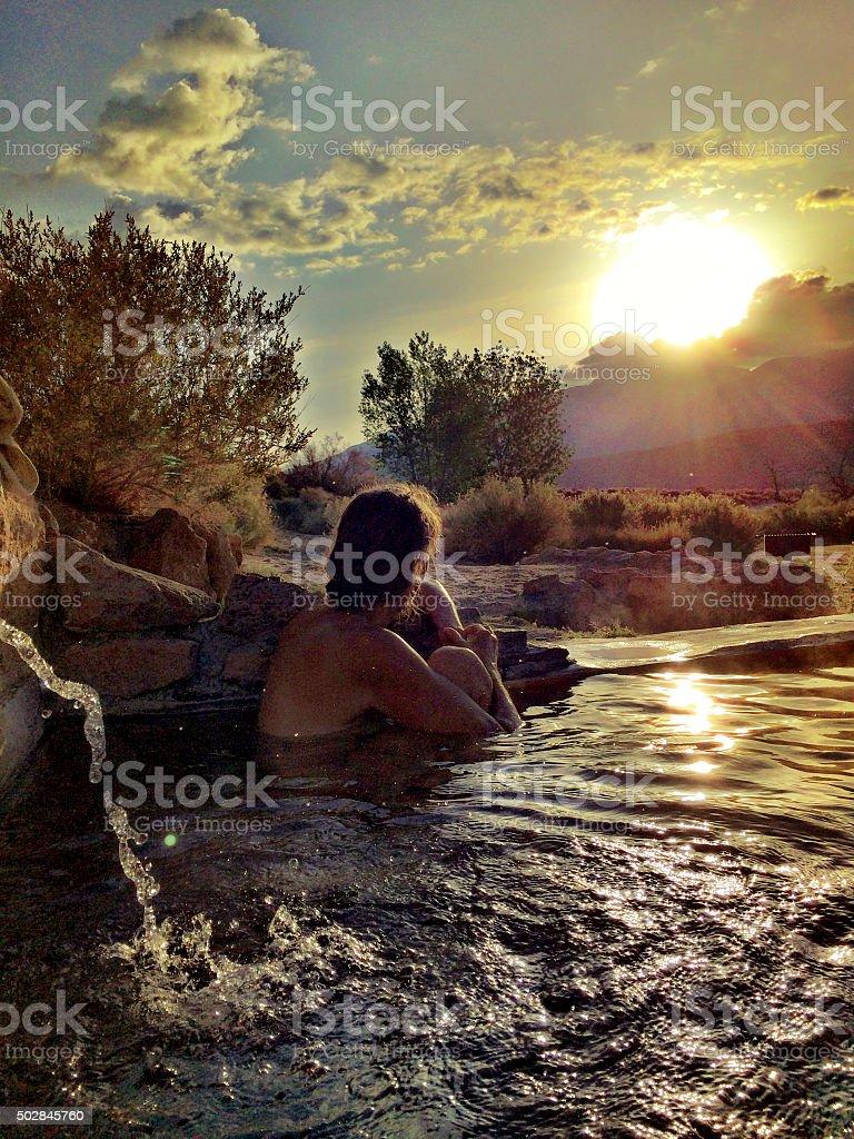 Glorious hot spring morning stock photo