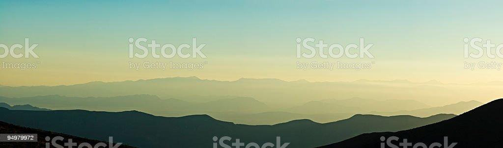 Glorious mountain dawn royalty-free stock photo
