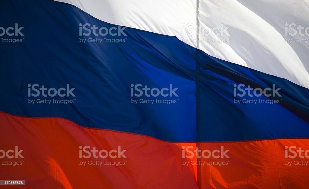 glorious russian flag stock photo