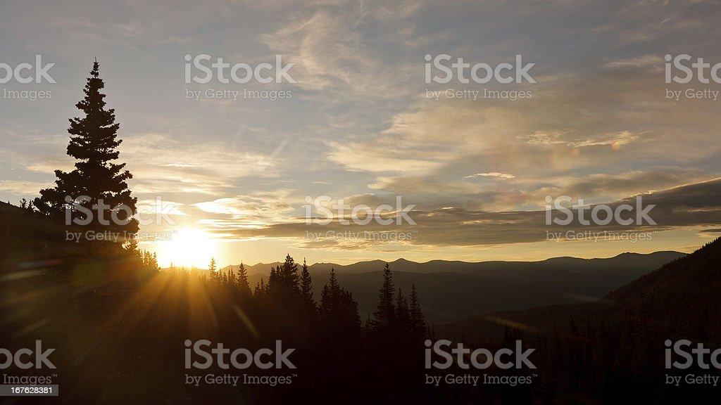 Glorious Sunrise in the Wilderness stock photo