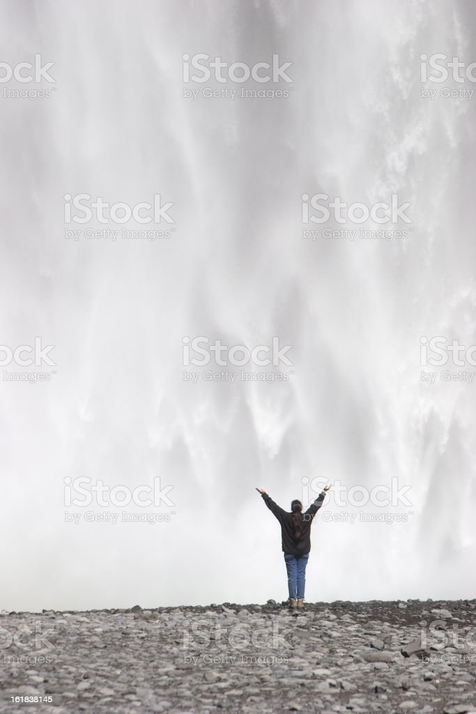 Glorious Waterfall royalty-free stock photo