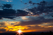 Glory of Sunset, Dramatic Sky and Clouds
