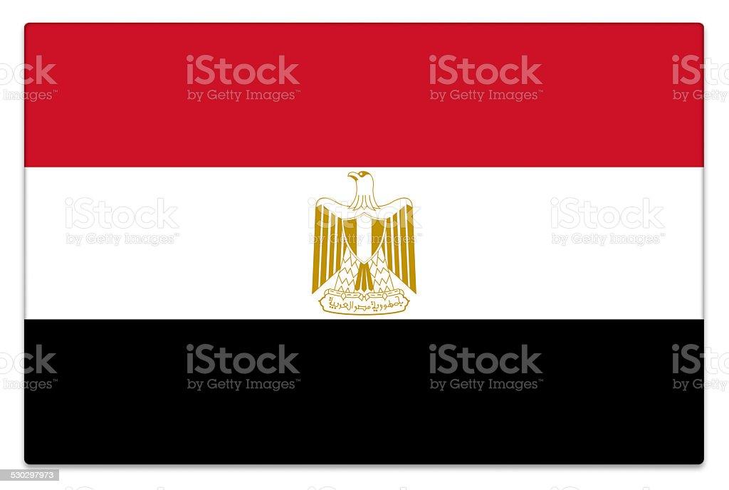 Gloss flag of Egypt on white stock photo