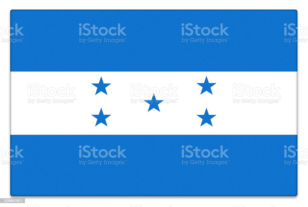Gloss flag of Honduras on white stock photo