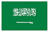 Gloss flag of Saudi Arabia on white
