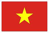 Gloss flag of Vietnam on white