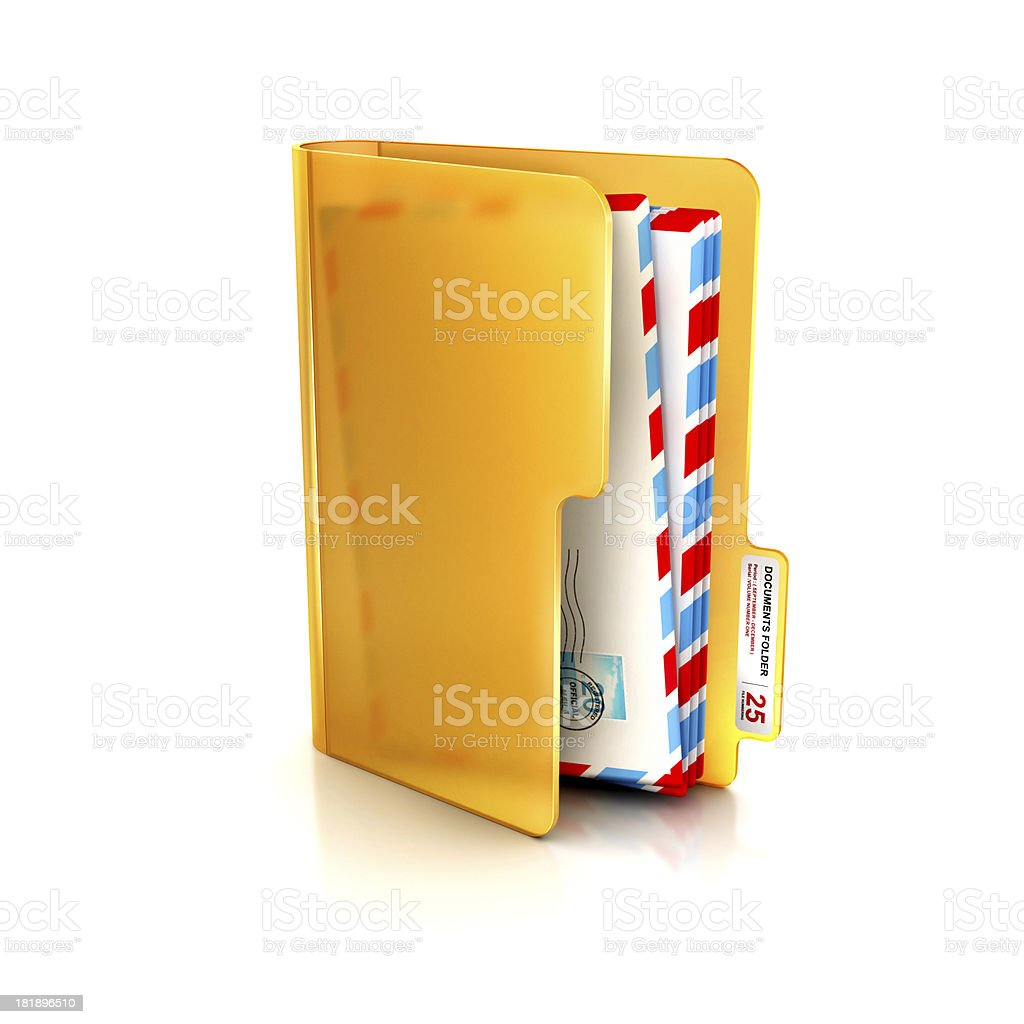 Glossy  and Transparent icon of email or mail inbox folder stock photo