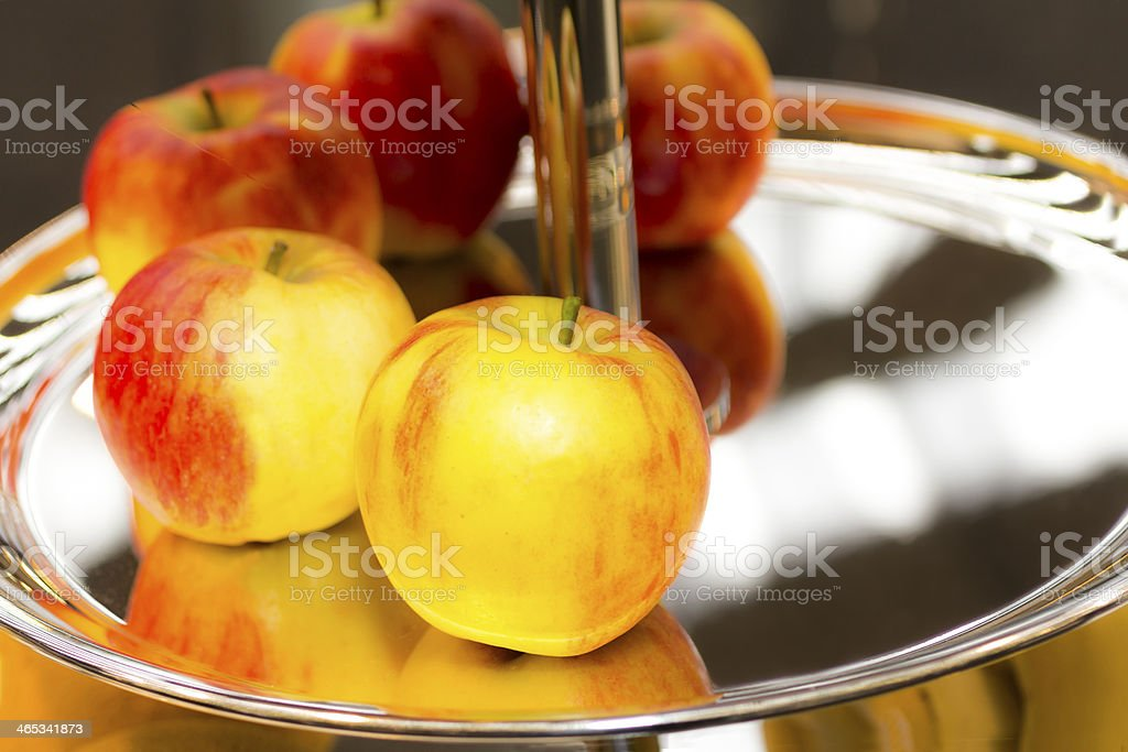 Glossy apples royalty-free stock photo