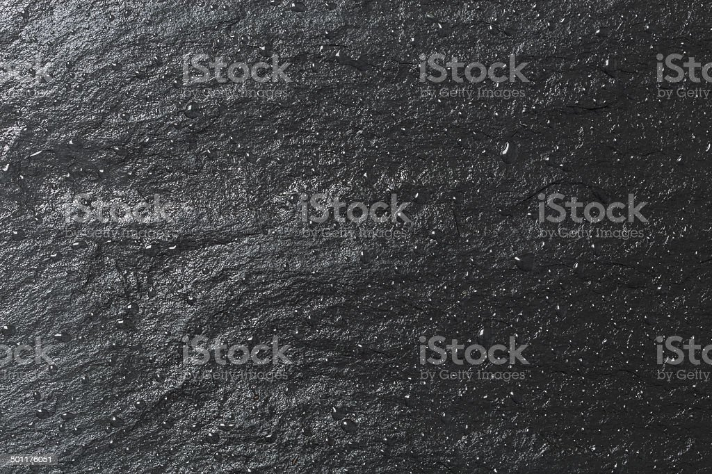 Glossy black slate background or texture stock photo