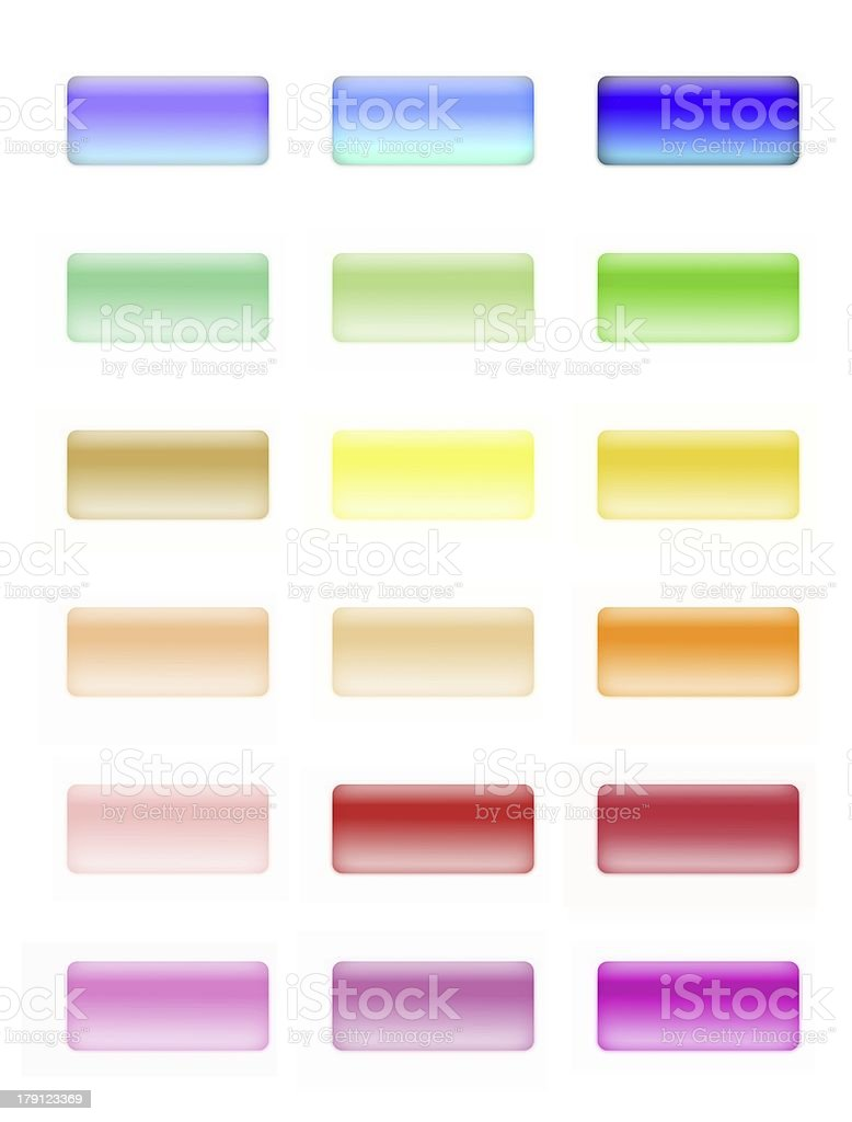 glossy buttons royalty-free stock photo