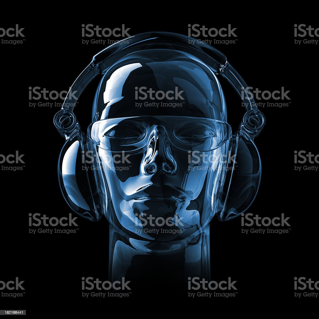 Glossy DJ stock photo