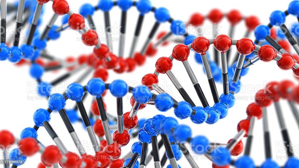 Glossy DNA royalty-free stock photo