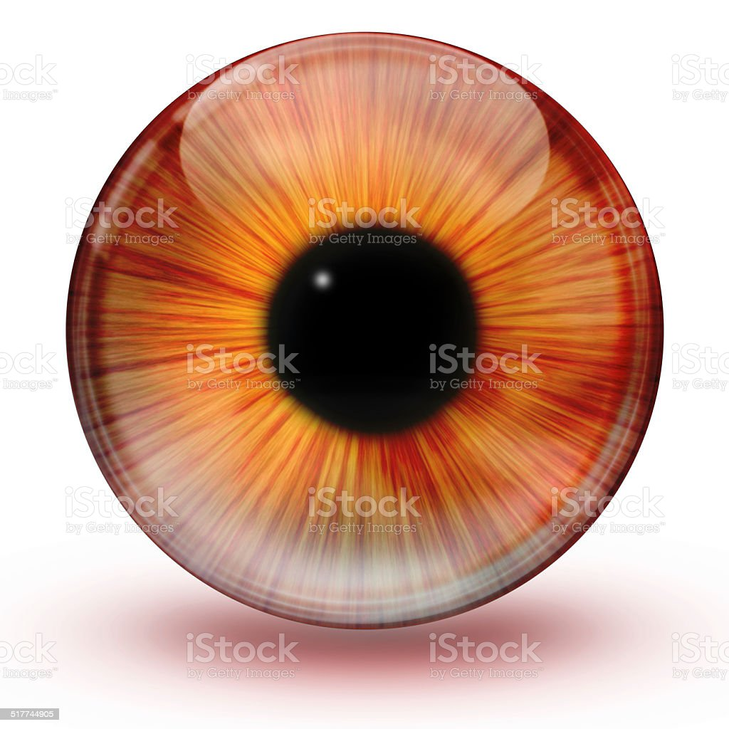 Glossy eye ball stock photo