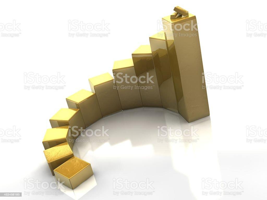 Glossy Gold Cubes & Bars royalty-free stock photo