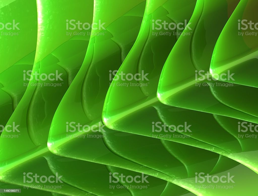 Glossy Green Nature Background royalty-free stock photo