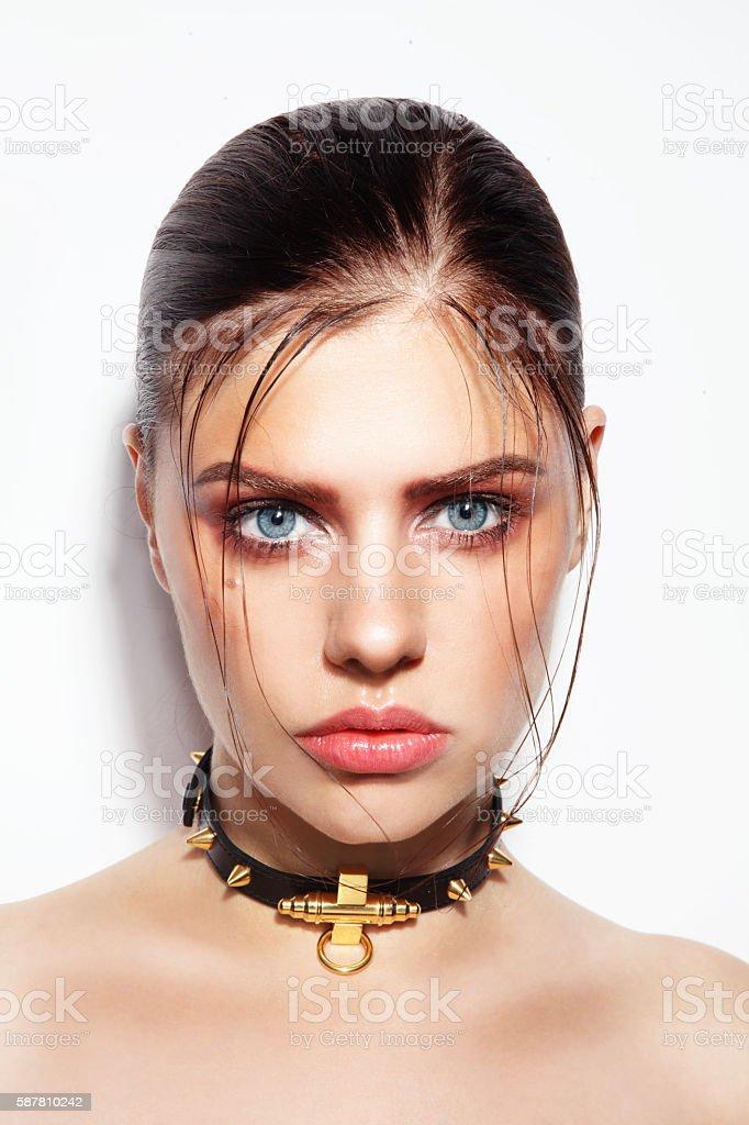 Glossy hair stock photo