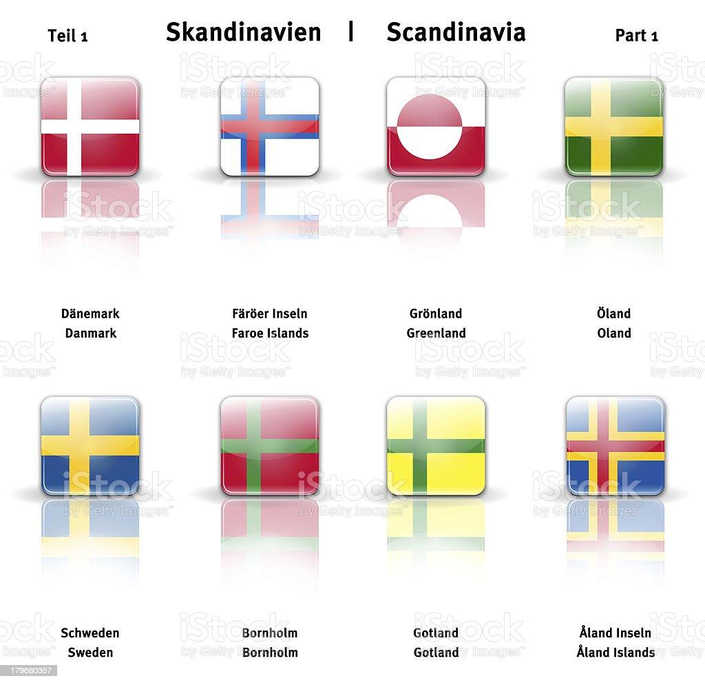 Glossy  icons Scandinavia (Part 1) royalty-free stock photo