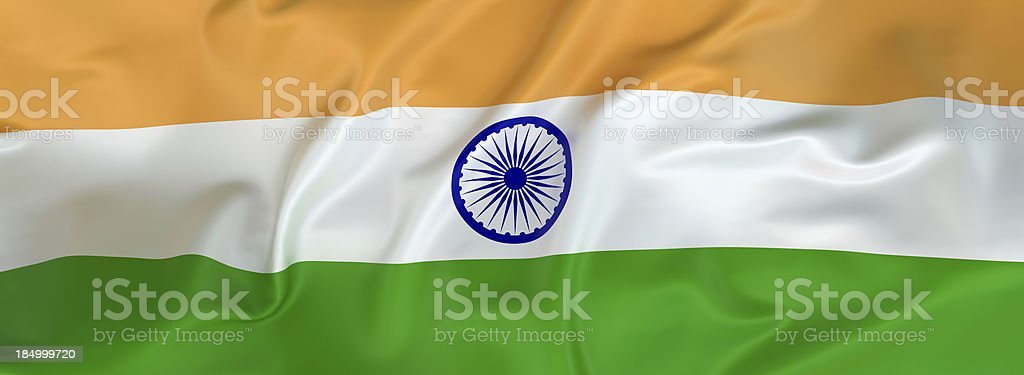 Glossy Indian Flag royalty-free stock photo