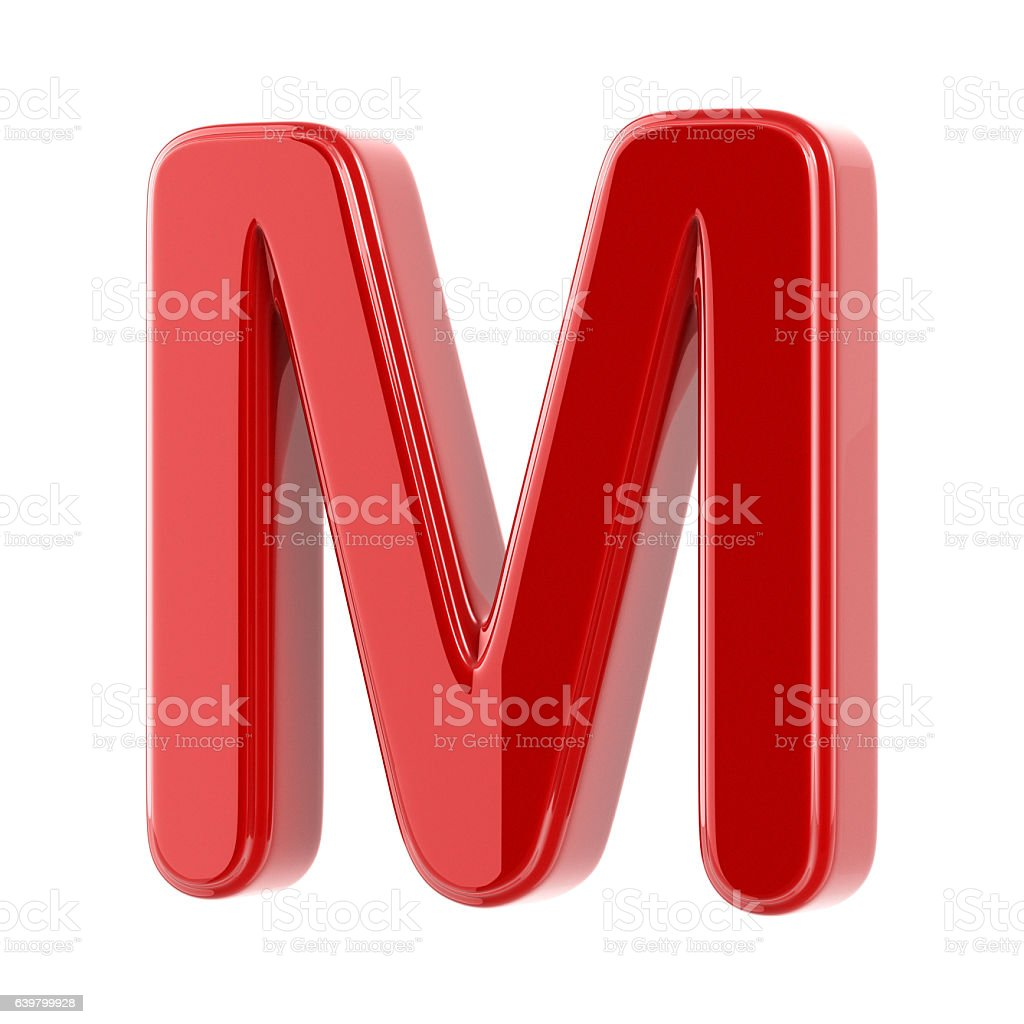 Glossy Letter M stock photo