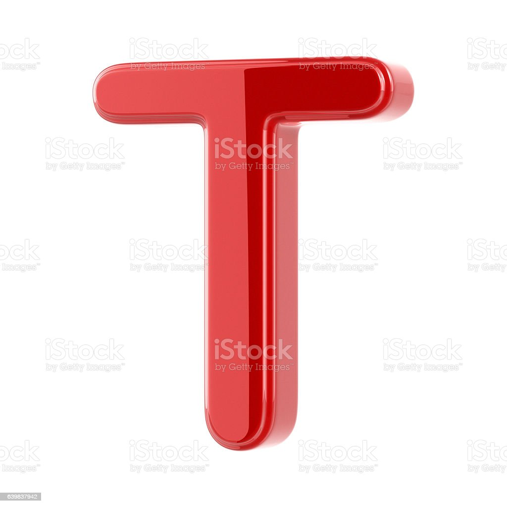 Glossy Letter T stock photo
