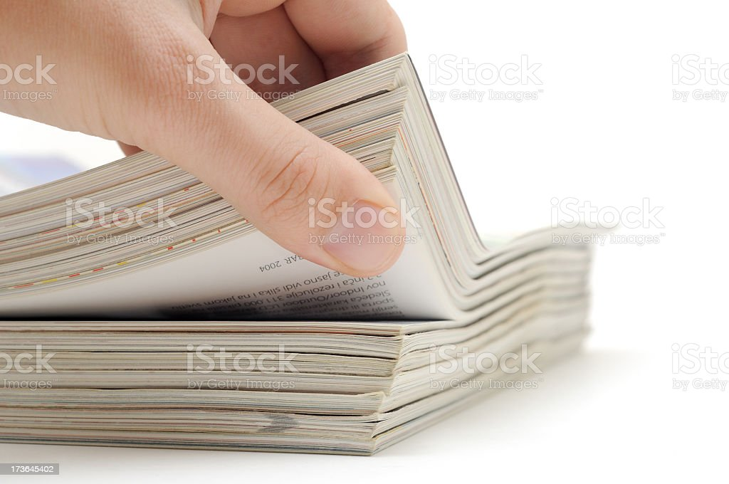Glossy magazines royalty-free stock photo