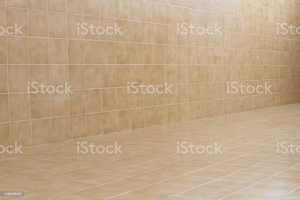 glossy ornamental stone tiled wall royalty-free stock photo