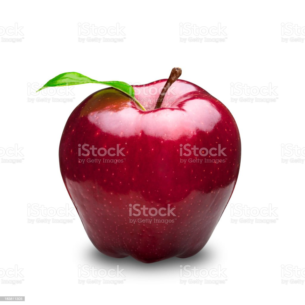 Glossy Red Apple stock photo