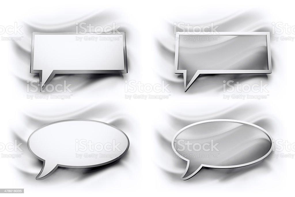 glossy speech bubble, two formats stock photo