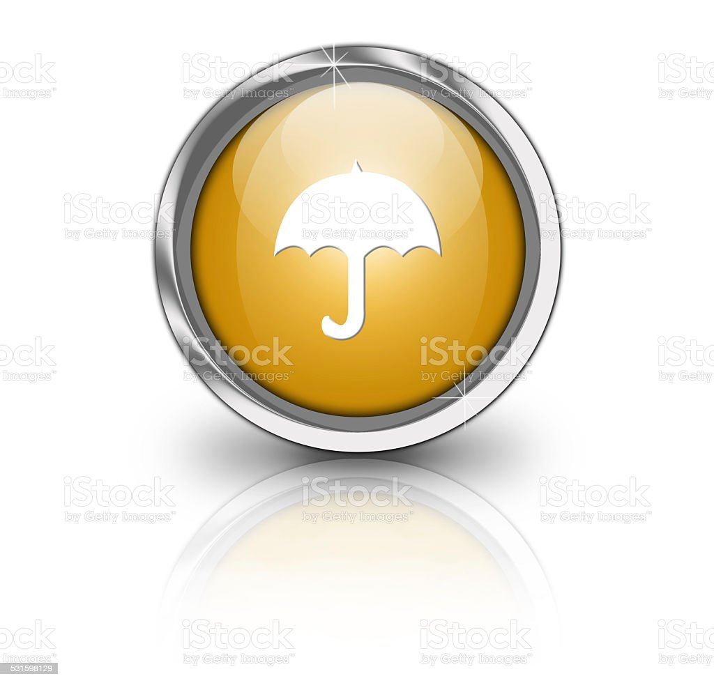 Glossy umbrella button stock photo