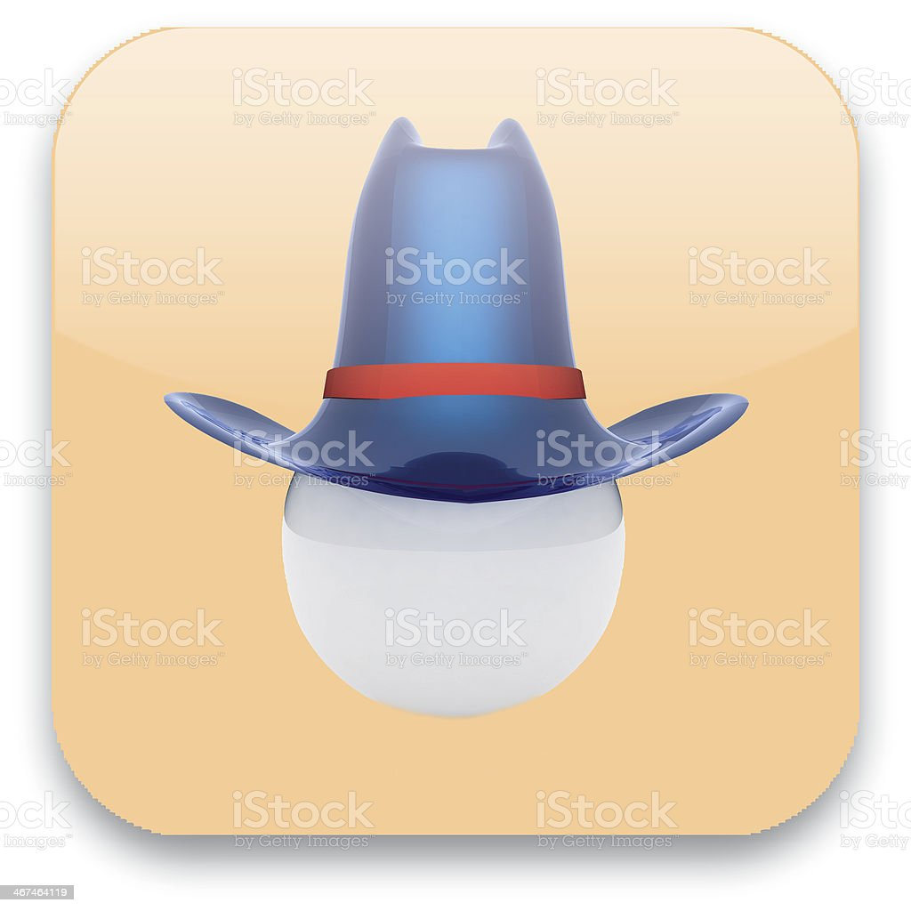 Glossy web button with user profile sign stock photo
