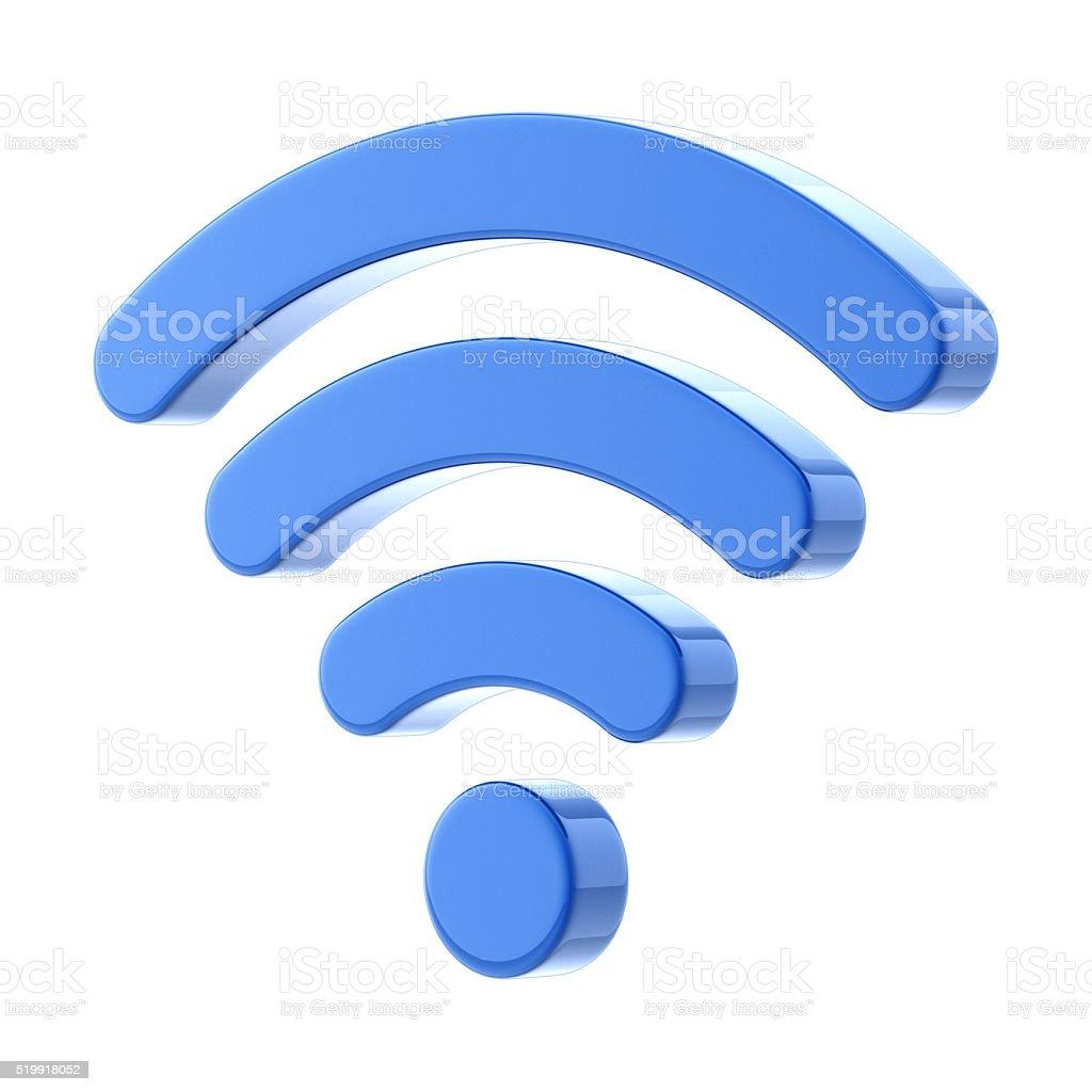 Glossy Wireless Symbol stock photo