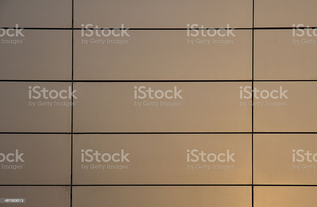 Glosy metal panel wall texture. stock photo