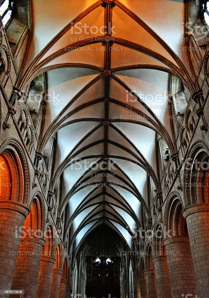 Gloucester Cathedral Ceiling stock photo