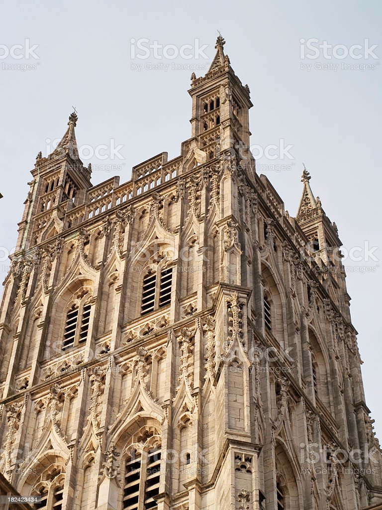 Gloucester cathedral central tower royalty-free stock photo